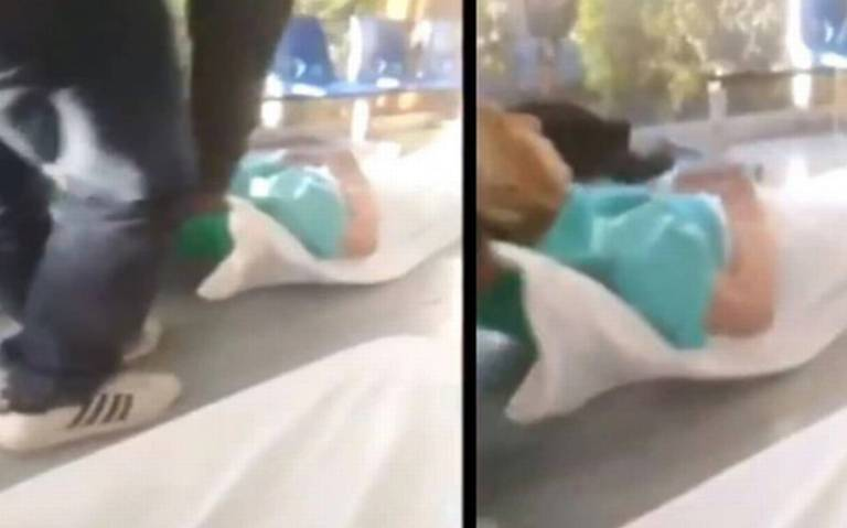 Arrastran a paciente por falta de camillas en el IMSS Guanajuato