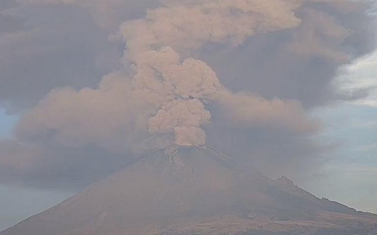 Popocatépetl registra explosión con altura de entre 4 y 5 kilómetros