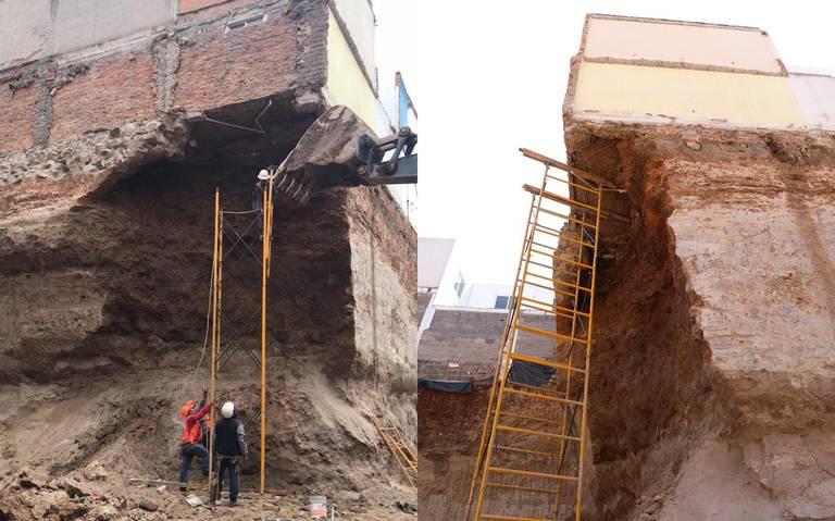 """Familias en riesgo por construcción de torre; viviendas quedaron """"volando"""""""