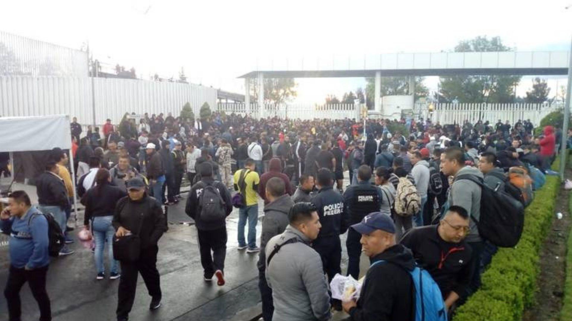 Policías federales protestan contra la Guardia Nacional