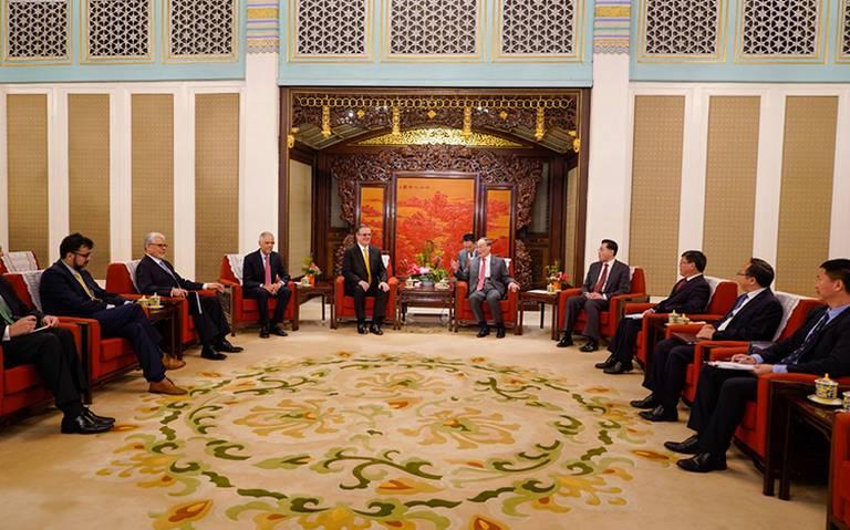 Recibe vicepresidente de China a Marcelo Ebrard