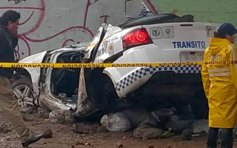 Brutal choque en Calzada Ignacio Zaragoza deja dos polis muertos [VIDEO]