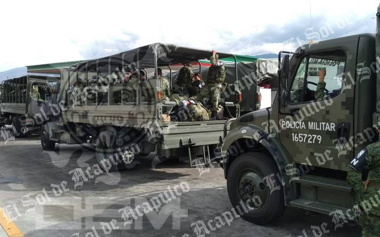 Arriban primeros elementos de la Guardia Nacional a Guerrero