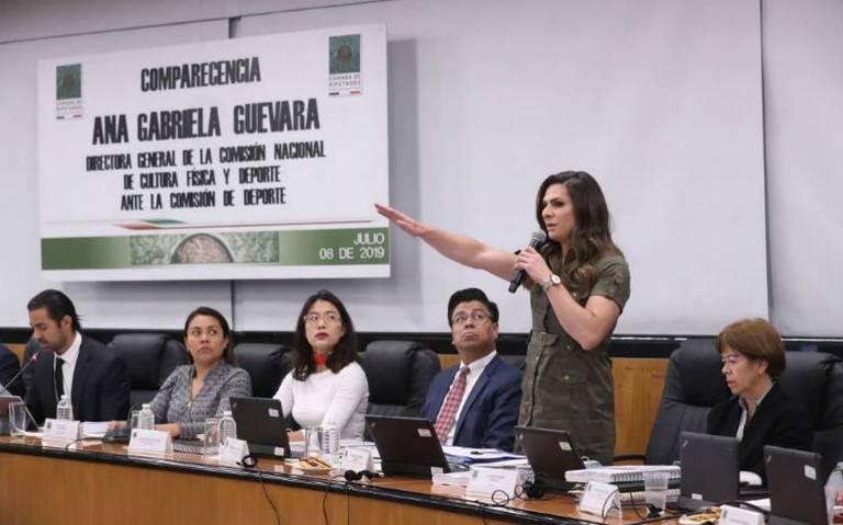 En la Conade no se solapa la corrupción, asegura Ana Gabriela Guevara