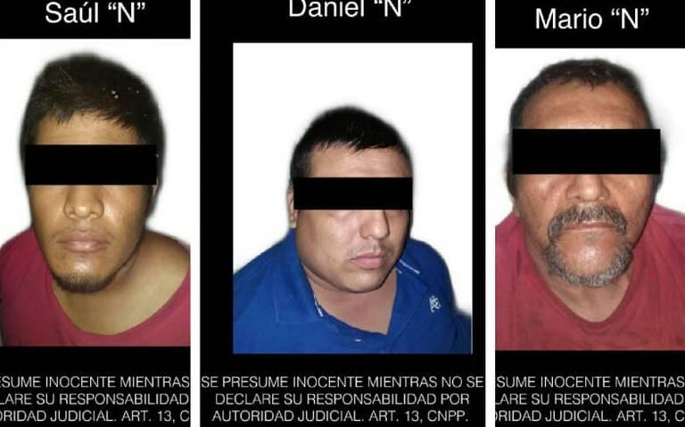 Detienen a presuntos integrantes de Cédula delictiva por secuestro