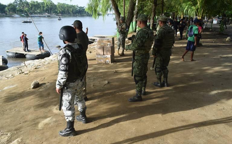Guardia Nacional se despliega por el río Suchiate