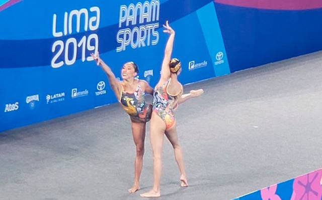 Nuria Diosdado y Joana Jiménez ganan plata en natación artística