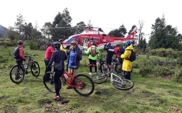 Rescatan a 19 ciclistas perdidos en el Nevado de Toluca