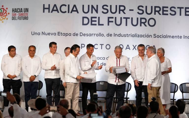 Prometen en Pacto Oaxaca 100 mil mdd para sureste del país