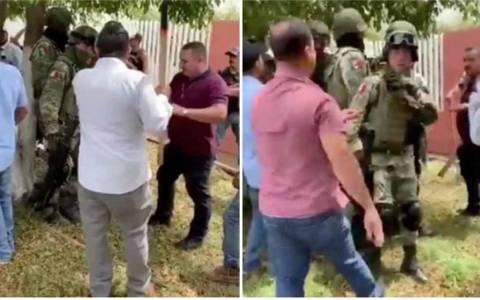 Agreden a militares con palas y escobas en Los Reyes, Michoacán