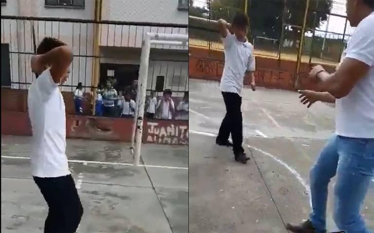 Niño ataca a su maestro con un cuchillo