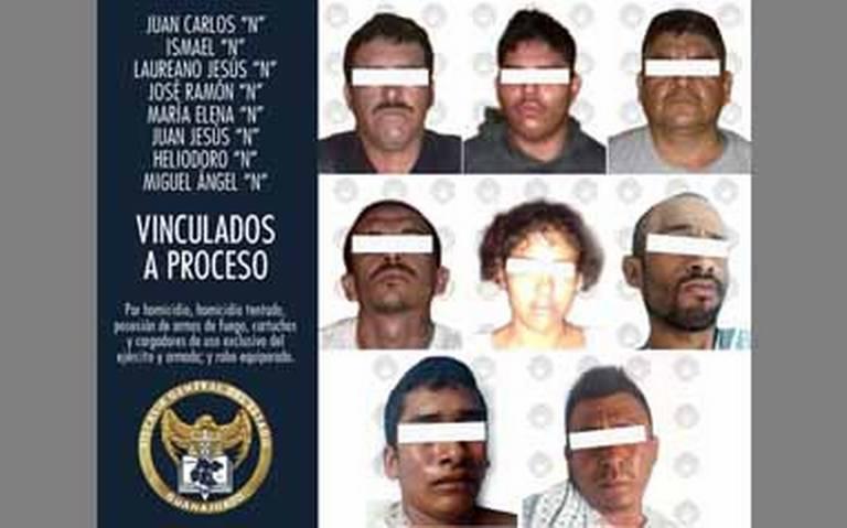 Vinculan a proceso a ocho por el asesinato de elemento de la Guardia Nacional