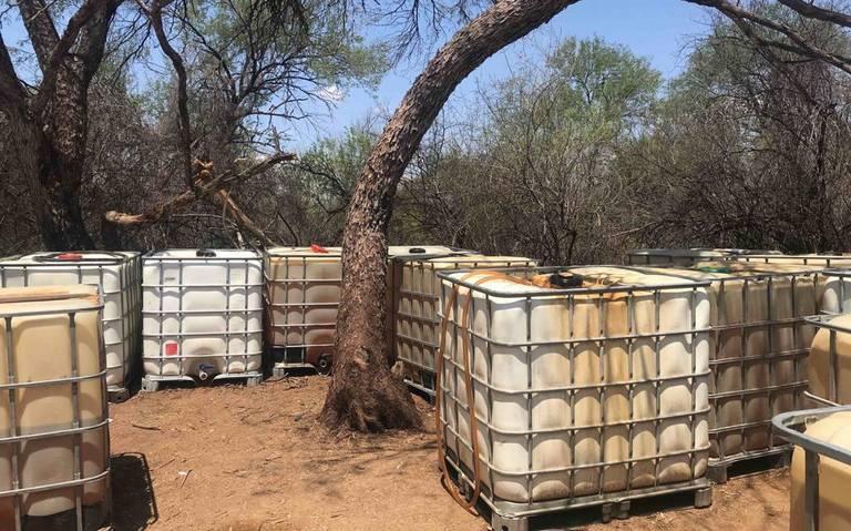 Autoridades decomisan más de 3 mil litros de huachicol en Sonora