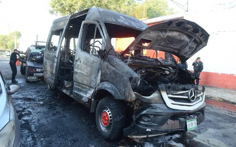 Máxima alerta por quema y extorsiones en transporte del Valle de México