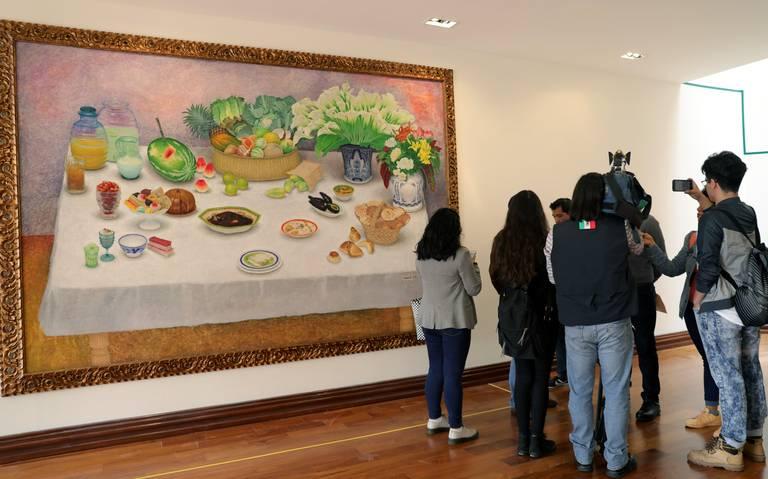 Exhiben en Los Pinos obras que expresidente Carlos Salinas encargó a pintores