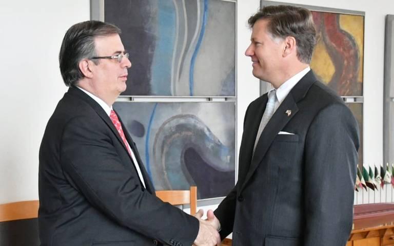 Ebrard recibe al nuevo embajador de EU en México