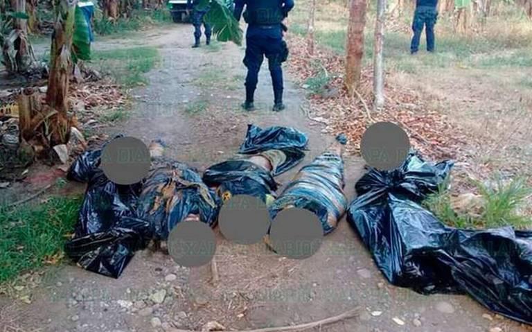 Tiran cuerpos de cuatro hombres y una mujer, en Veracruz