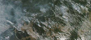El Amazonas continúa en llamas y así se ve desde el espacio