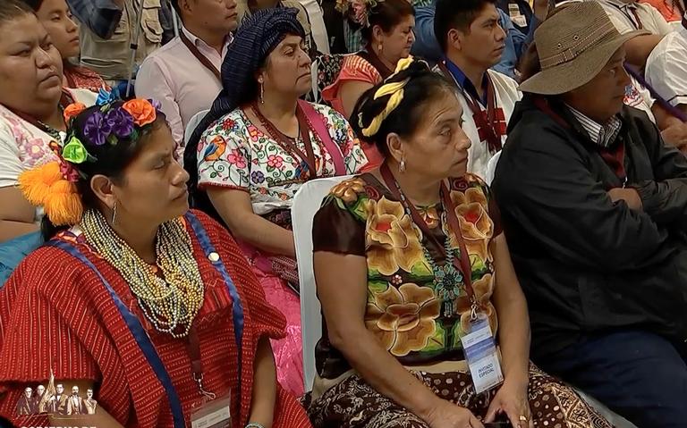 AMLO recibe resultados de foros nacionales de Consulta Indígena