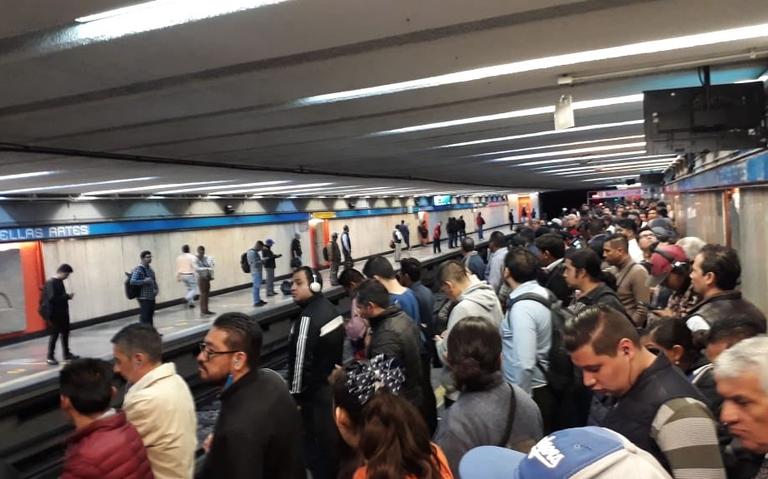 Falla en tren y suicidio ocasionan caos en L2 del Metro