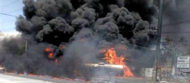 Explota pipa de gasolina en Guadalupe, Nuevo León