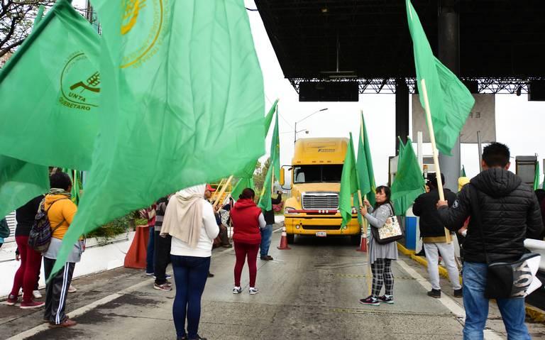 Protestas de campesinos en Querétaro