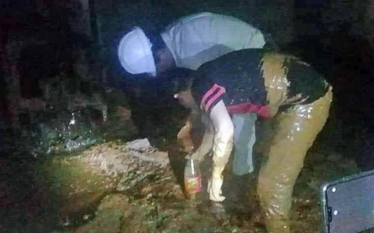 Buscaban agua y encuentran petróleo en Macuspana