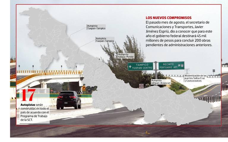 Proyectos carreteros para Veracruz llevan años de retraso; no tienen fecha de conclusión