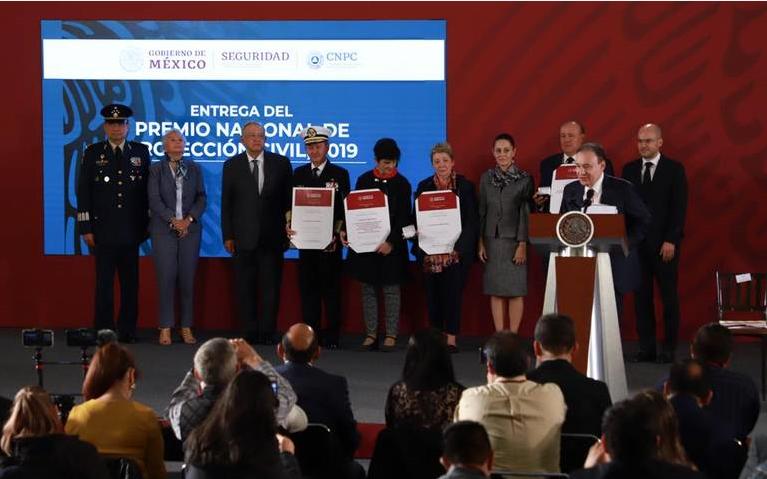 Gobierno entrega el Premio Nacional de Protección Civil 2019