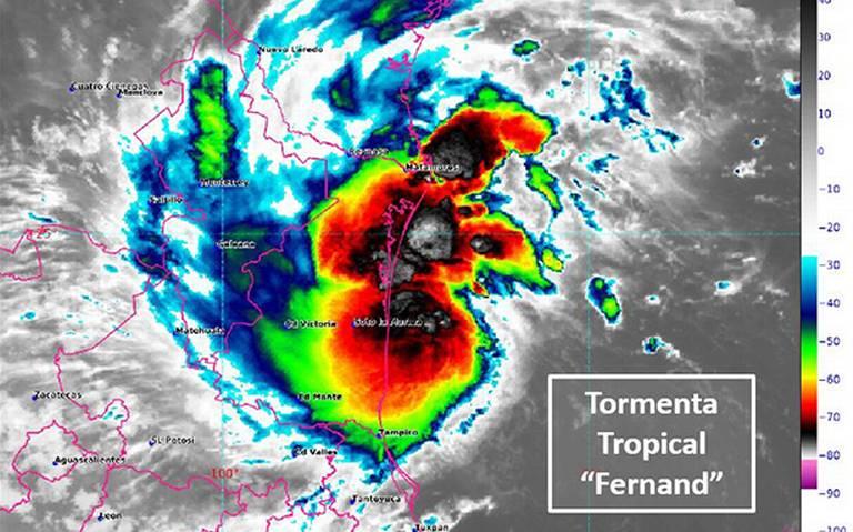 """""""Fernand"""" generará lluvias torrenciales en Tamaulipas y Veracruz"""