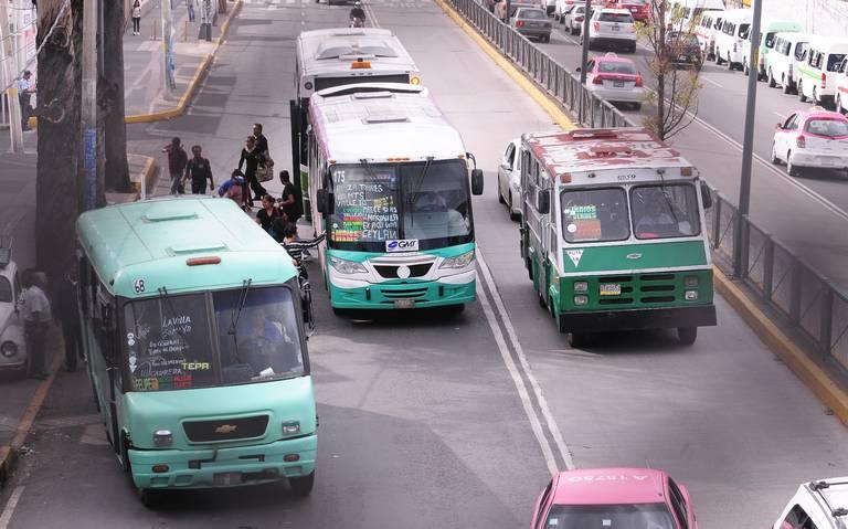 Afectación grave dejará marcha de microbuseros en la CDMX