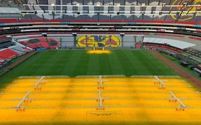 Implementan tecnología holandesa en césped del Estadio Azteca
