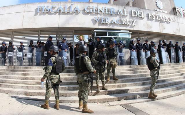 Guardia Nacional blinda la Fiscalía de Veracruz