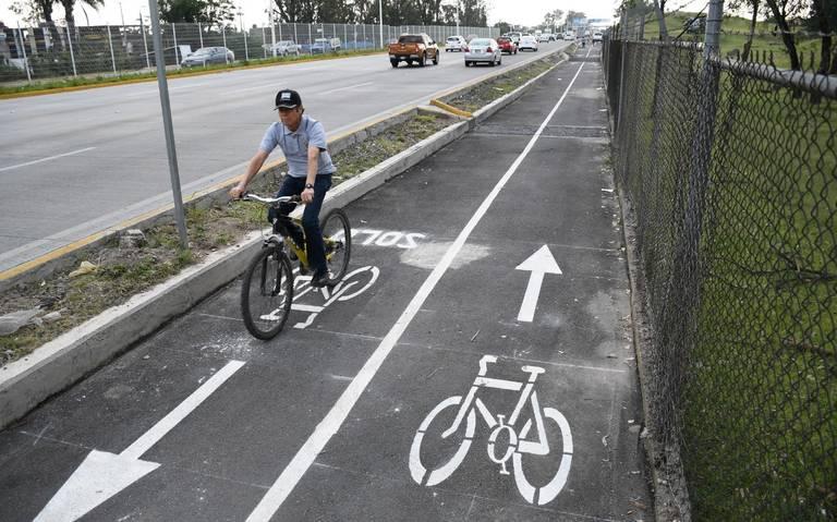 Rehabilitan ciclovía de Periférico Norte