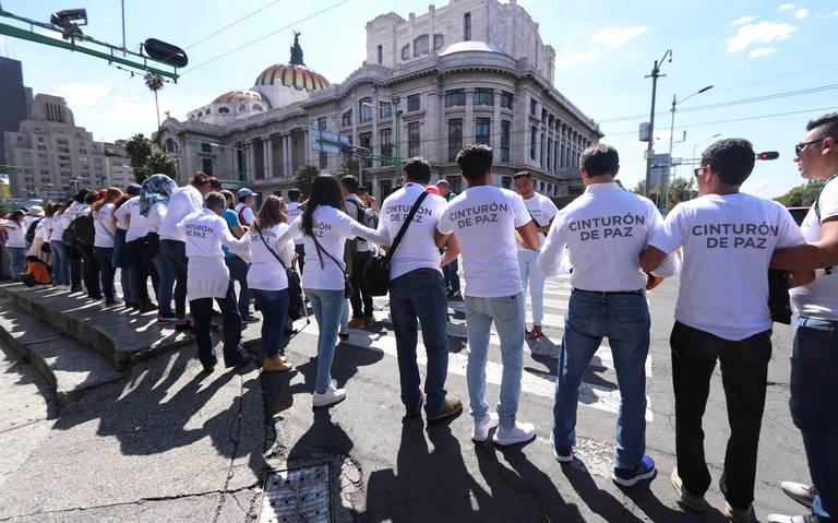 Descartan usar cinturones de paz en próximas marchas