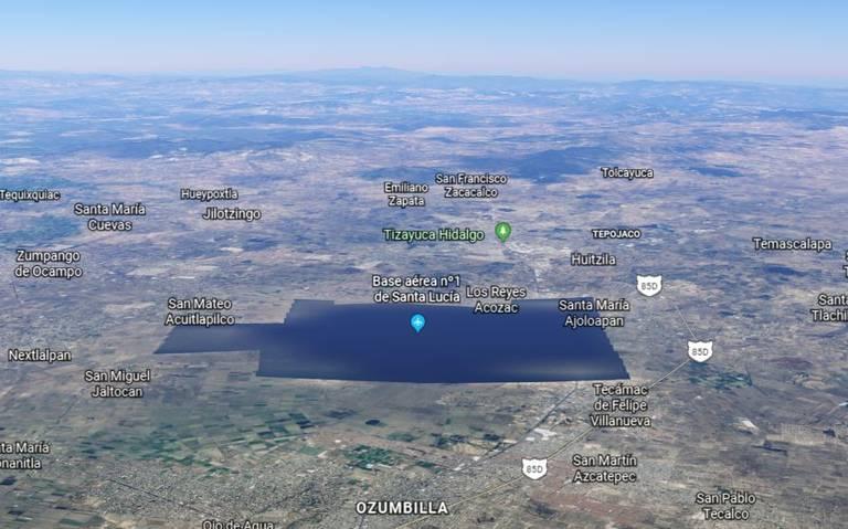 Google Earth borra terrenos del nuevo Aeropuerto de Santa Lucía
