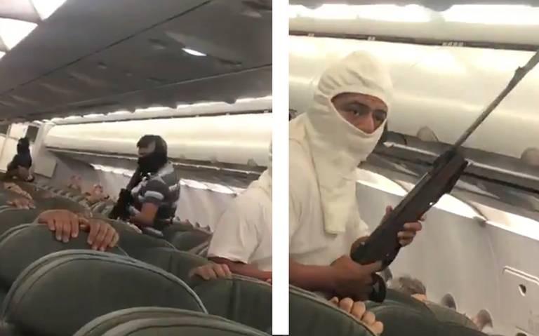 [Video] Secuestran avión de Interjet como parte de un simulacro