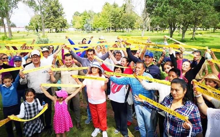 Defienden parque La Pilita en Metepec ante cuartel de Guardia Nacional