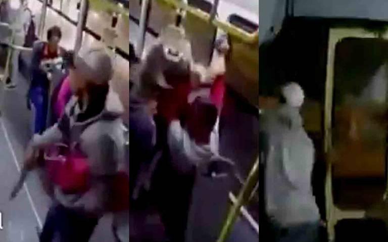 Tras forcejeo pasajero desarma a ladrones de transporte público y frustra atraco en La Raza