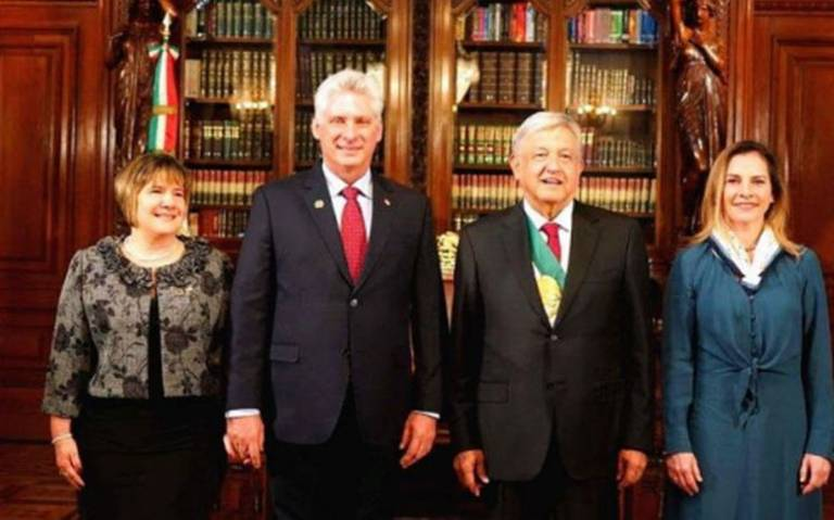 ¡Bienvenidos a México! Ebrard celebra llegada de Presidente de Cuba