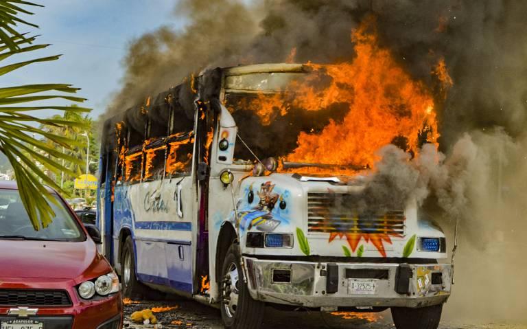 Por inseguridad suspenden parcialmente servicio de transporte público en Acapulco