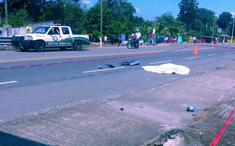 Camioneta mata a motociclista en la Carretera Ciudad Hidalgo – Tapachula
