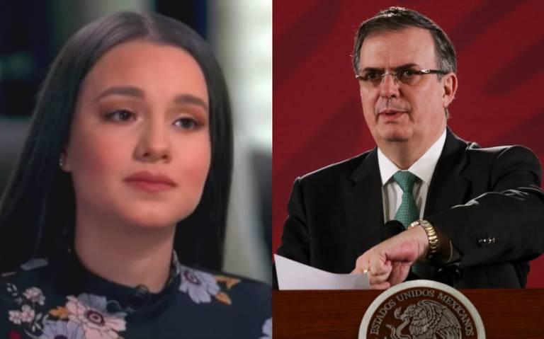 Ebrard envía carta a Sarita, le ofrece ayuda del Gobierno mexicano