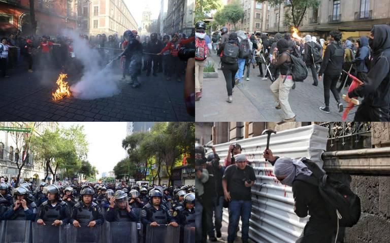 Cuatro heridos y un detenido deja marcha del 2 de octubre