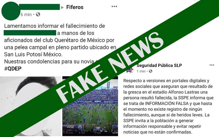 Muere una persona en riña entre aficionados de San Luis y Quéretaro… ¡Fake news!