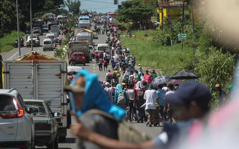 Jefe pandillero llegó a Chiapas en caravana