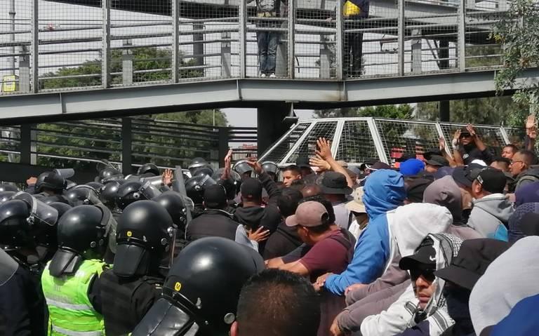 Bronca entre la SSC y policías federales afuera del AICM [VIDEO]