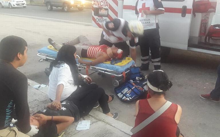 Cuatro heridos en fuerte accidente en el libramiento norte