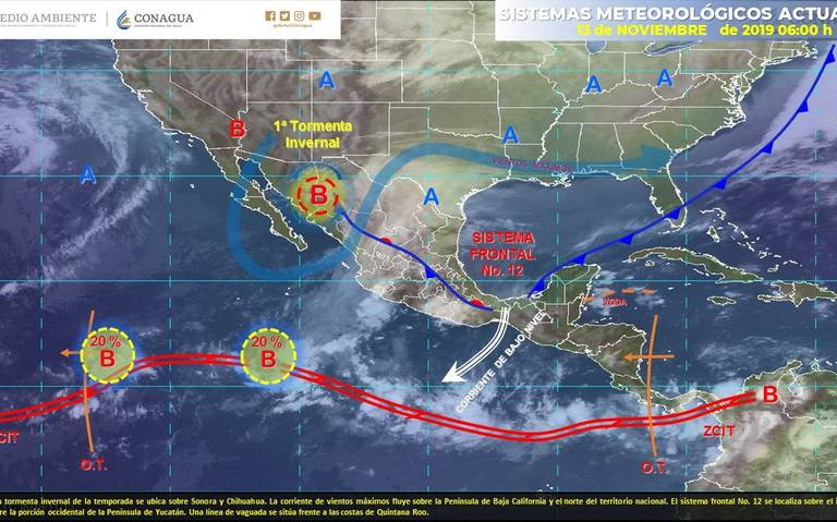 Frente Frío número 12 provocará fuertes lluvias en Chiapas