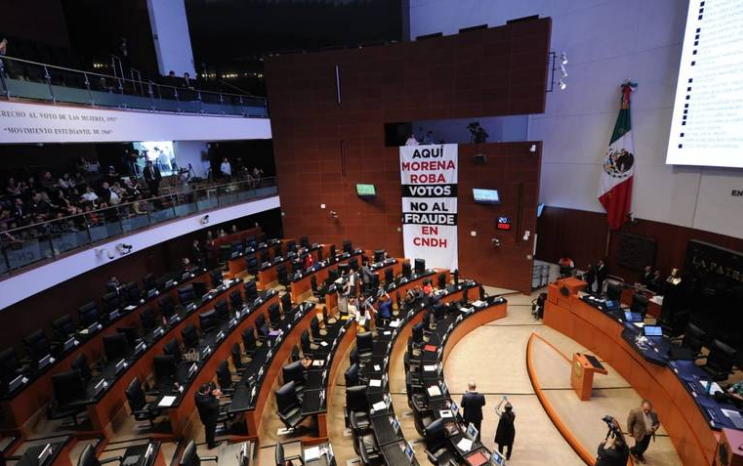 Morena en el Senado acepta repetir votación de la CNDH